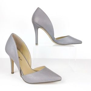 Breckelle's Grey D' Orsay Heels Womens 8 SB